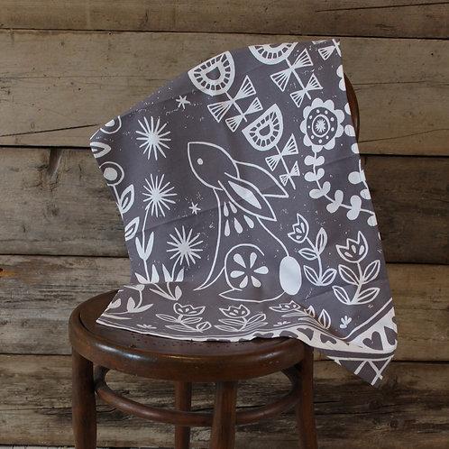 Evelyn Bunny Tea Towel, Scandi kitchen gift
