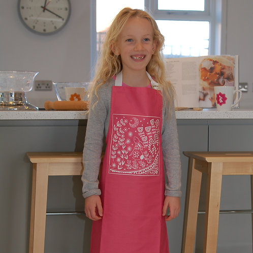 Evelyn Bunny Kids Apron in Pink