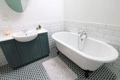 Vanity Unit and Roll-top Bath