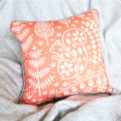 Edward Squirrel Orange Cushion Cover