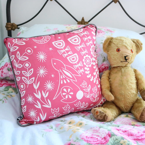 Evelyn Bunny Magenta Pink Cushion Cover