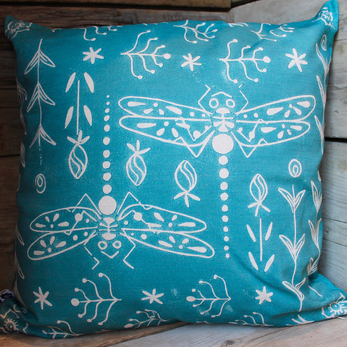 Trollslander Dragonfly Cotton Linen Cushion