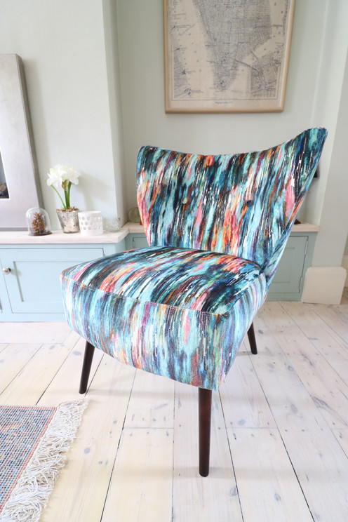Beautiful Velvet Accent Cocktail Chair