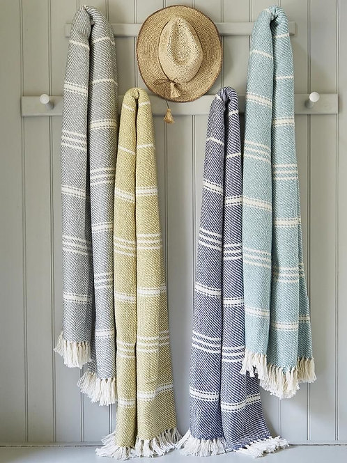 Oxford Stripe Blankets - various colours