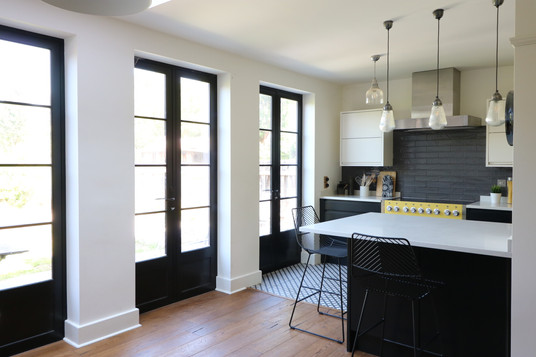 Black metal french doors for Wow Factor