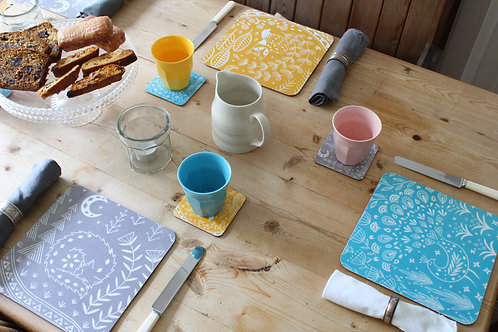 Set of 6 Placemats Featuring Daniel Fox, Connor Wolf and Pearce Peacock