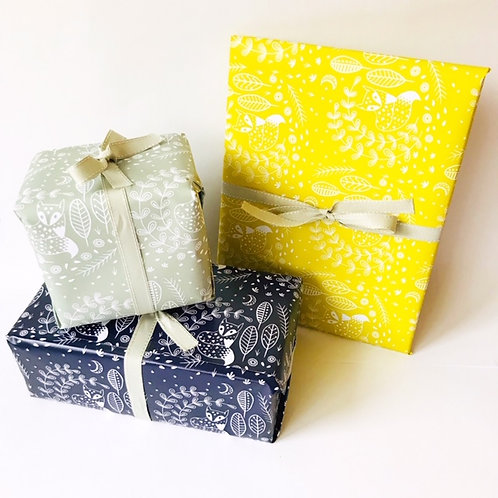Daniel Fox Gift Wrap A2 size individual sheets