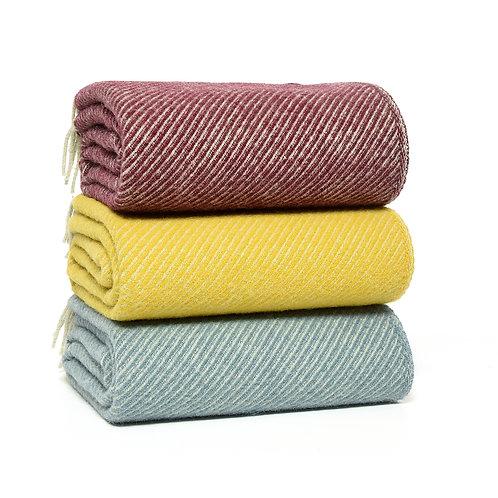 Diagonal Wool Blankets - various colours