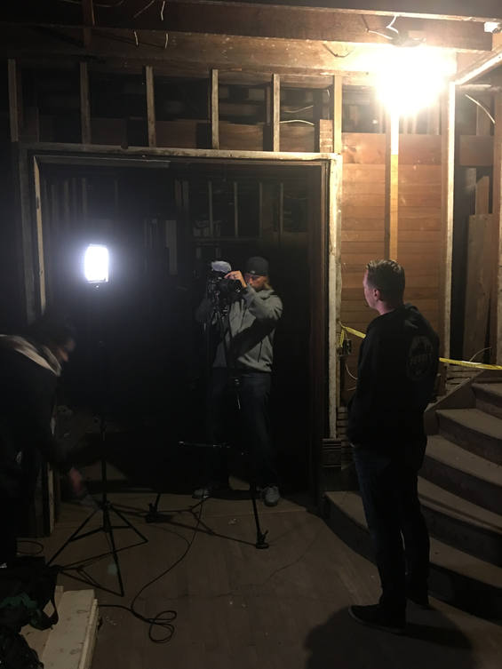 Jeff being interviewed by WDIV