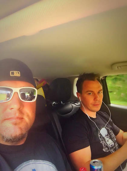 Todd and Jeff on the road
