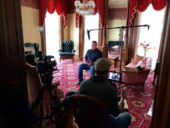 Todd Bonner filming for Haunted Case Files