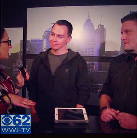 Jeff and Todd being interviewd by CBS Detroit