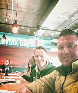 Jeff Adkins and Todd Bonner at Charlevoix Brewing