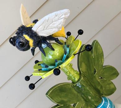 ceramic bee close-up
