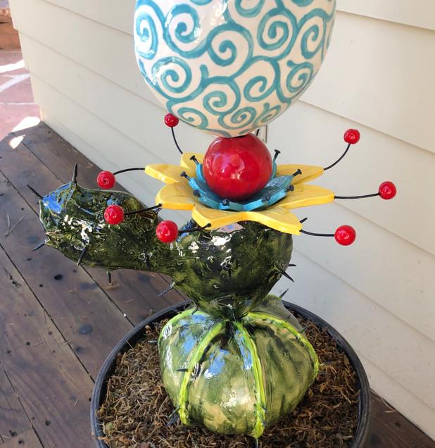whimsical ceramic flower