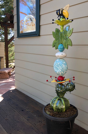 Ceramic Flowers and Cactus