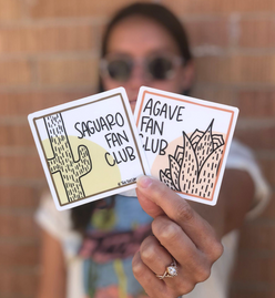 Saguaro & Agave Fan Club Vinyl Sticker Pack