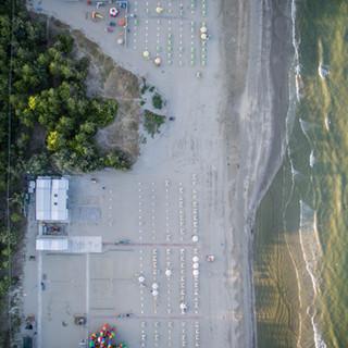 Foto aérea de una playa