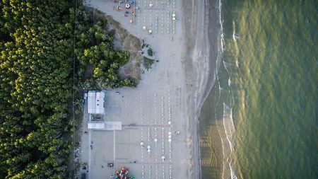 海灘的空中攝影