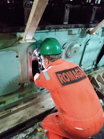 Crankshaft inspection MaK 8M25