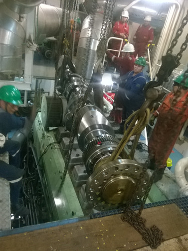 Crank shaft replacement Bergen B32:40