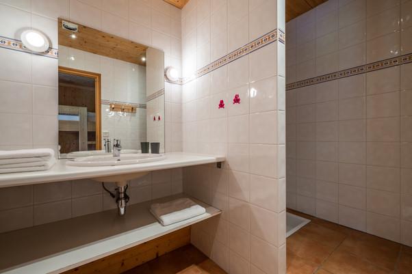 Bouquetin, salle de douche.