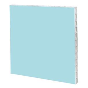 White Frame with Light Blue Panel