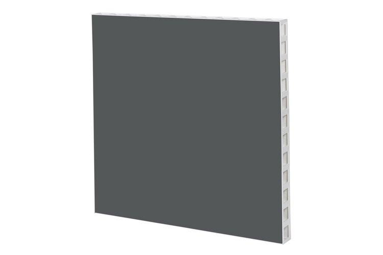 White Frame with Dark Grey Panel