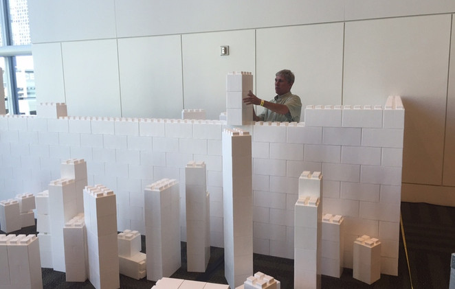 EverBlock booth being built