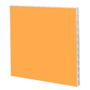 White Frame with Orange Panel