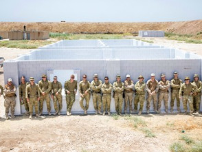 Note the first two of several buildings to be built for training at TAJI military base IRAQ. Courtesy: Australian MOD.