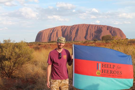 Posing at Uluru, NT