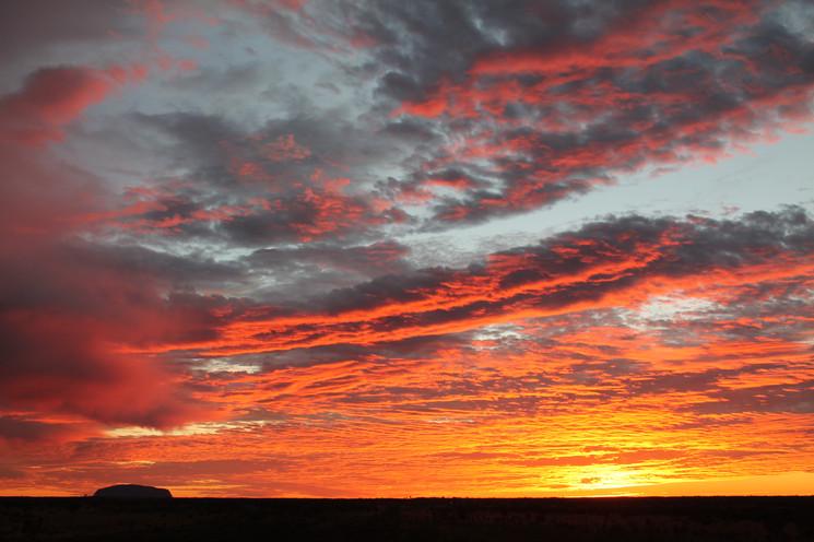 Sun rise by Uluru, NT