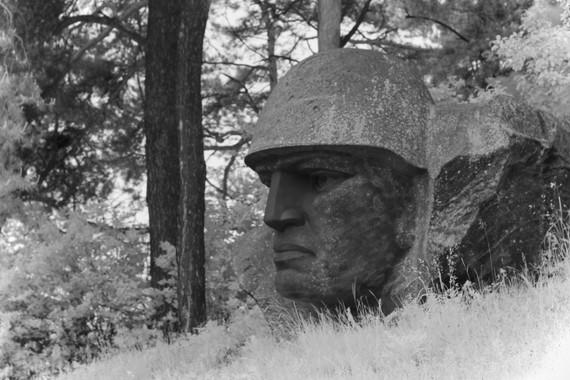 Soviet Head Statue, Lithuania