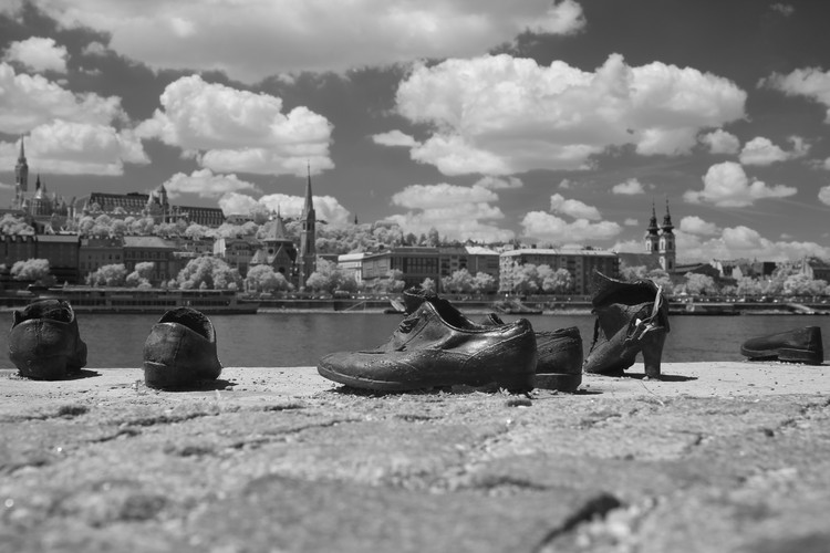 Shoes on the Danube bank, Budapest
