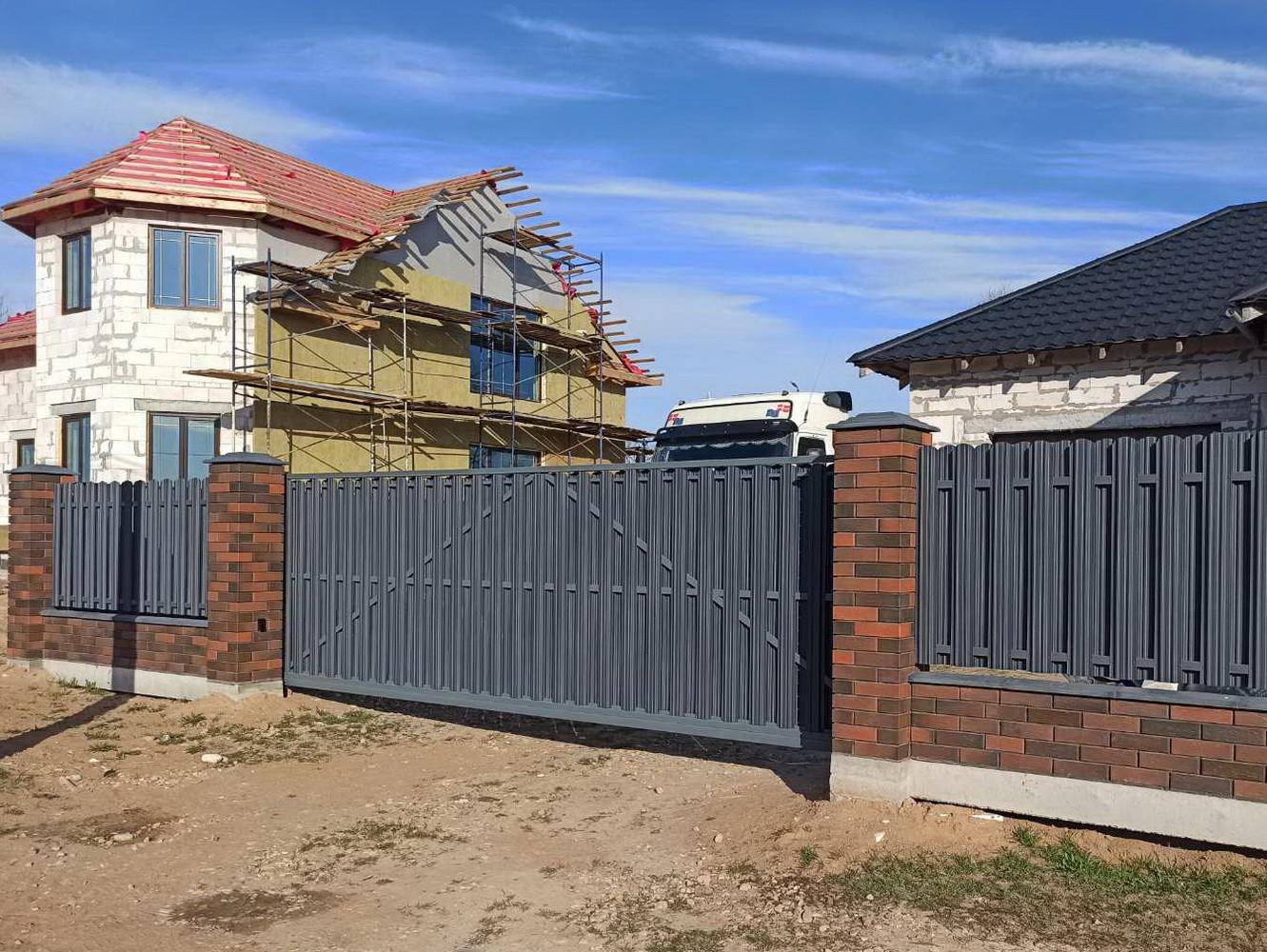 Откатные ворота д. Николаевка
