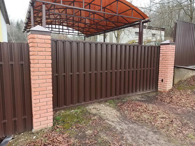 Откатные ворота в д. Полыковичи, ул. Солнечная