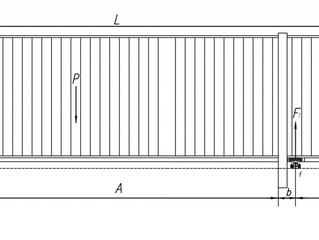 Методика расчета параметров откатных ворот