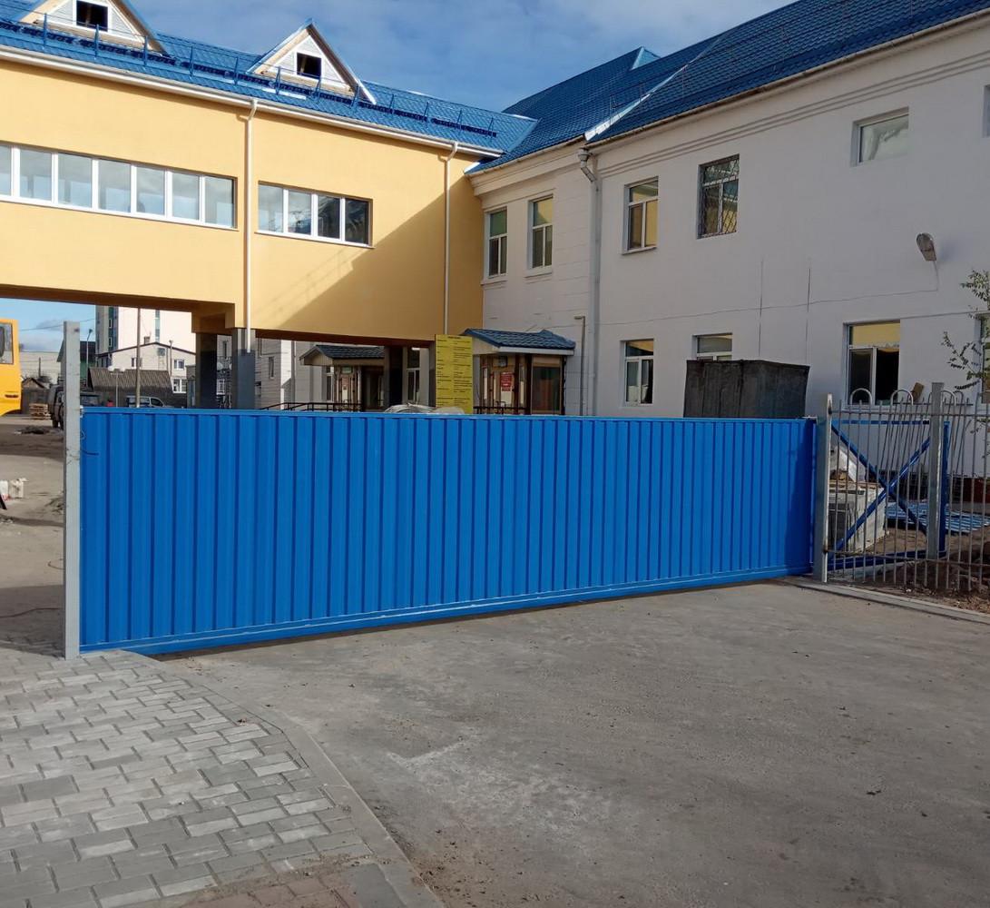Откатные ворота в г. Осиповичи