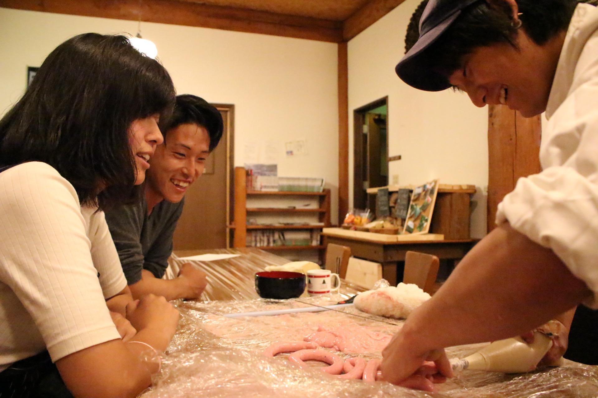 手作りソーセージ体験