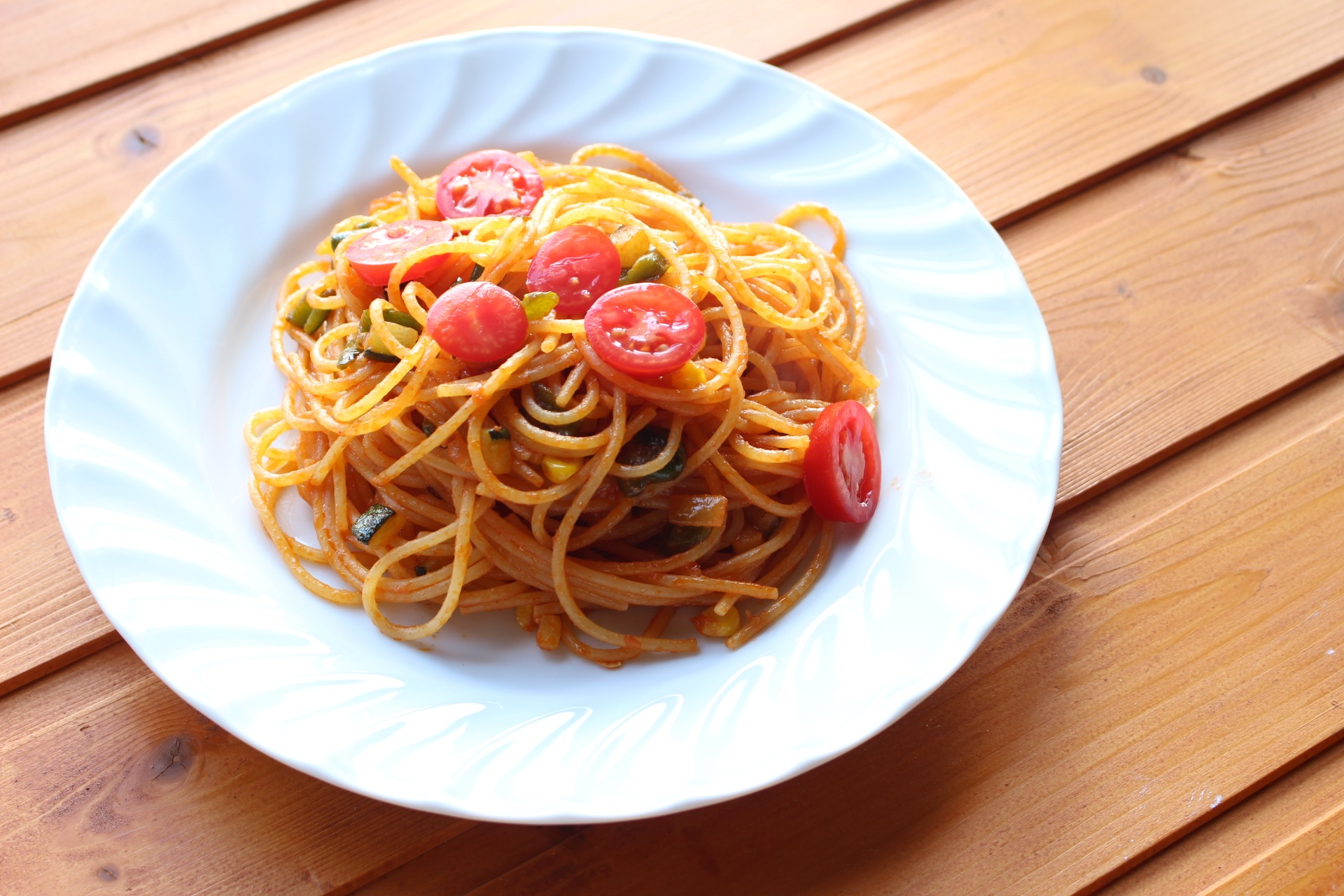 ニセコ産野菜を使ったスパゲッティ(Cafe)
