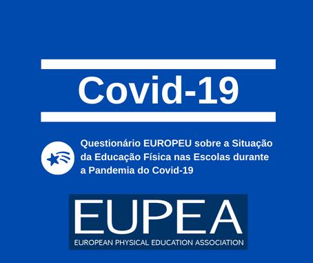 Colabore no estudo europeu sobre a EF no período da pandemia COVID 19