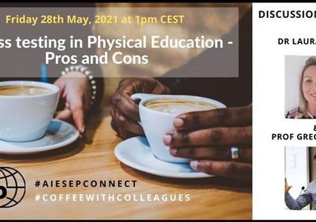 A AIESEP divulga uma conversa entre profissionais  sobre a temática dos testes físicos na EF