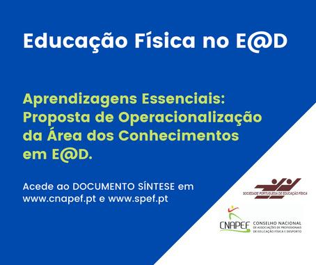 SPEF e CNAPEF publicam documento síntese sobre a área dos conhecimentos em EF