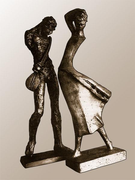 Ünlü heykeltıraşın Bağlamacı ve Genç Kız eserleri