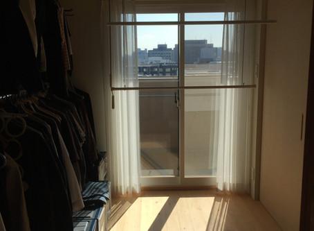 南の窓は暖房器具がわり