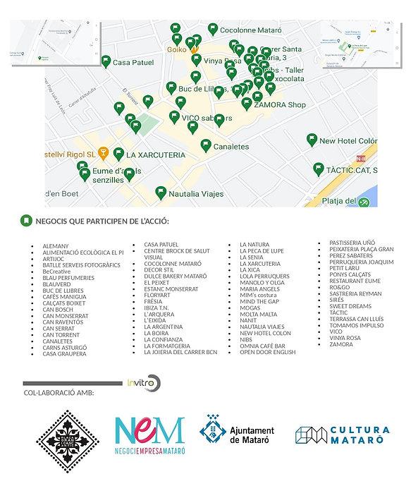 MAPA COMERÇOS que participen de l'acció_