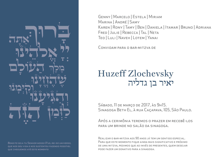 Convite Huzeff