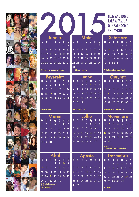 Calendario Família 2015