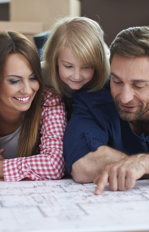 Heizung Bordesholm, Familie bei der Planung